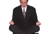 mediteren in kantoorruimte